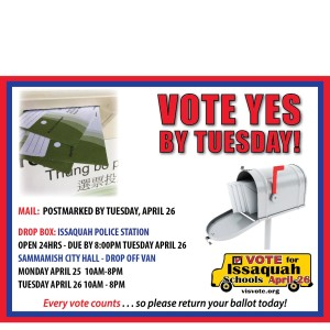 VOTE YES BY TUES
